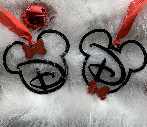 Mickey & Minnie Lettered Baubles