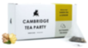 Cambridge Tea Party Green Tea Ginger Pyramid Tea Bags