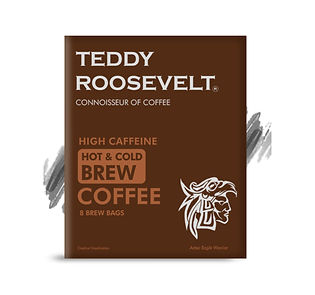 Teddy Roosevelt Coffee Hot Cold Brew High Caffeine Coffee