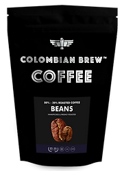Colombian Brew Coffee Roasted Coffee Beans 80_ Arabica-20_ Rob