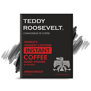 Teddy Roosevelt Coffee High Caffeine Instant Coffee