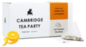Cambridge Tea Party Green Tea Orange Pyramid Tea Bags