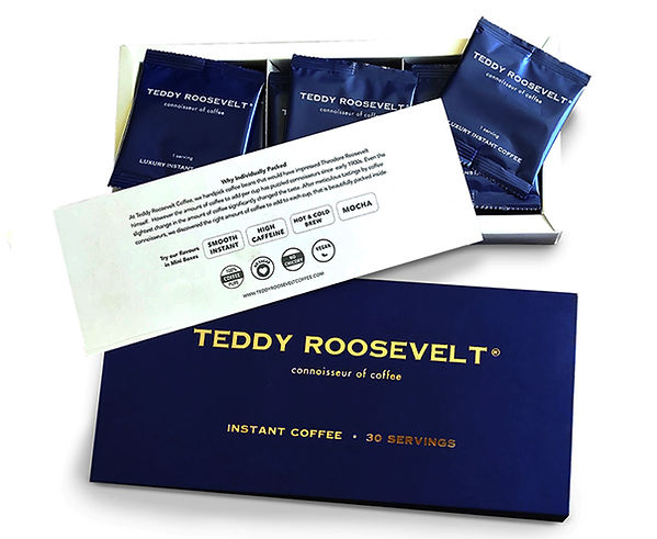 Teddy Roosevelt Instant Coffee 30 servin