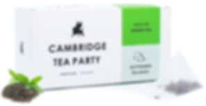 Cambridge Tea Party Green Tea Pyramid Tea Bags