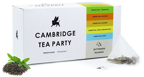 Cambridge Tea Party Green Tea Assorte Pyramid Tea Bags Flavours