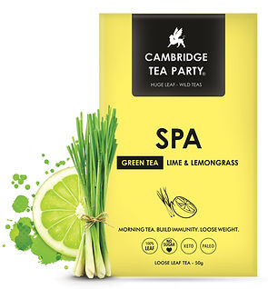 Cambridge Tea Party Green Tea Lemongrass Spa Tea Bags