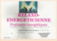 Certificat relaxo-énergéticienne