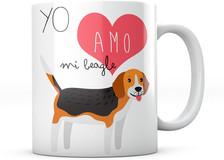 PANISCUS Taza Perrito Yo Amo mi Beagle