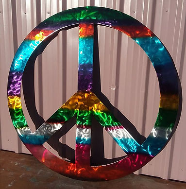 3 feet in diameter metal Peace Sign avai
