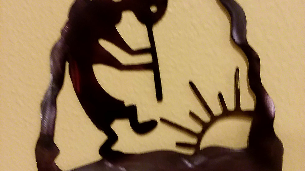 Kokopelli Dancing In the Sun Arrowhead