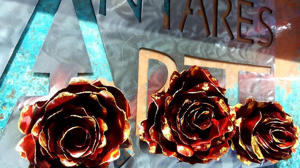 23k Gold leaf rose, limited number all signed.