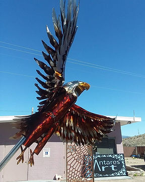 4th American Eagle created at Antares Art on Route 66 in Kingman Arizona by Gregg Arnold,  this one'