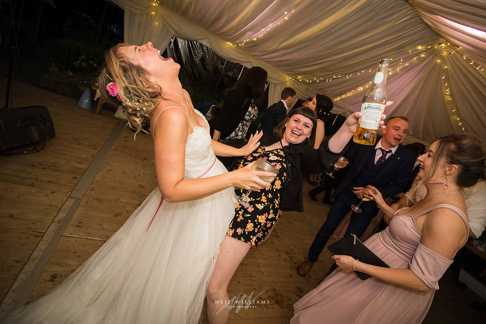 pembrokeshire, wedding, photography, neil, williams, south wales photographer, cardiff, swansea, carmarthen, bristol, cotswolds, llys meddyg, rustic, alternative, boho, dance floor, party photos, first dance,  honey fungus band,