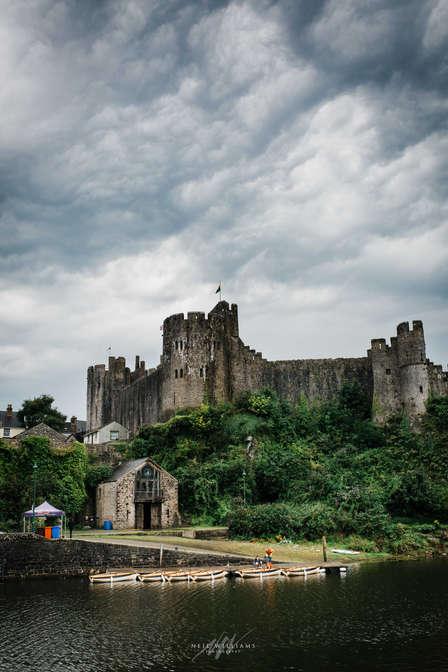 Stormy Pembroke Castle