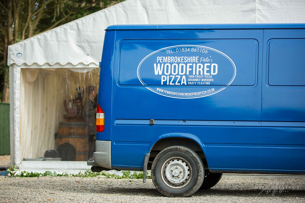 pembrokeshire wood fired pizza, catering, wedding, pembrokeshire, hilton, court