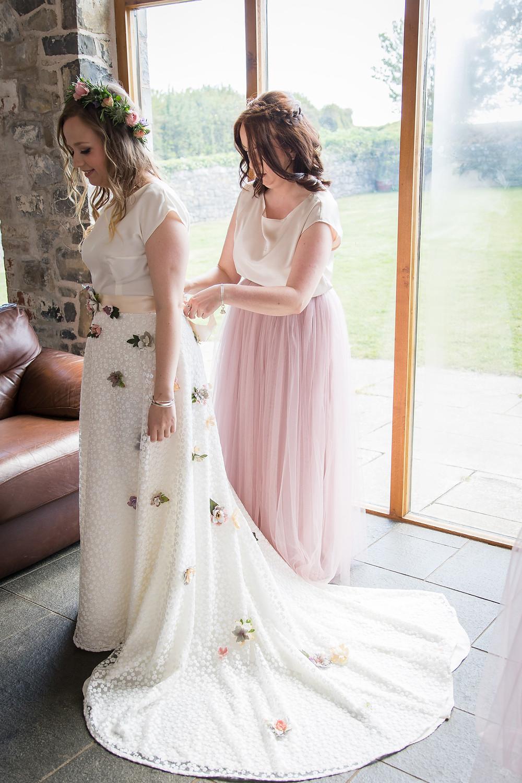 boho wedding dress, e&w couture, rosedew farm