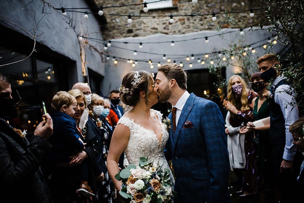 confetti, penally abbey, wedding, micro-wedding, neil williams photography, covid wedding, pembrokeshire wedding venue,