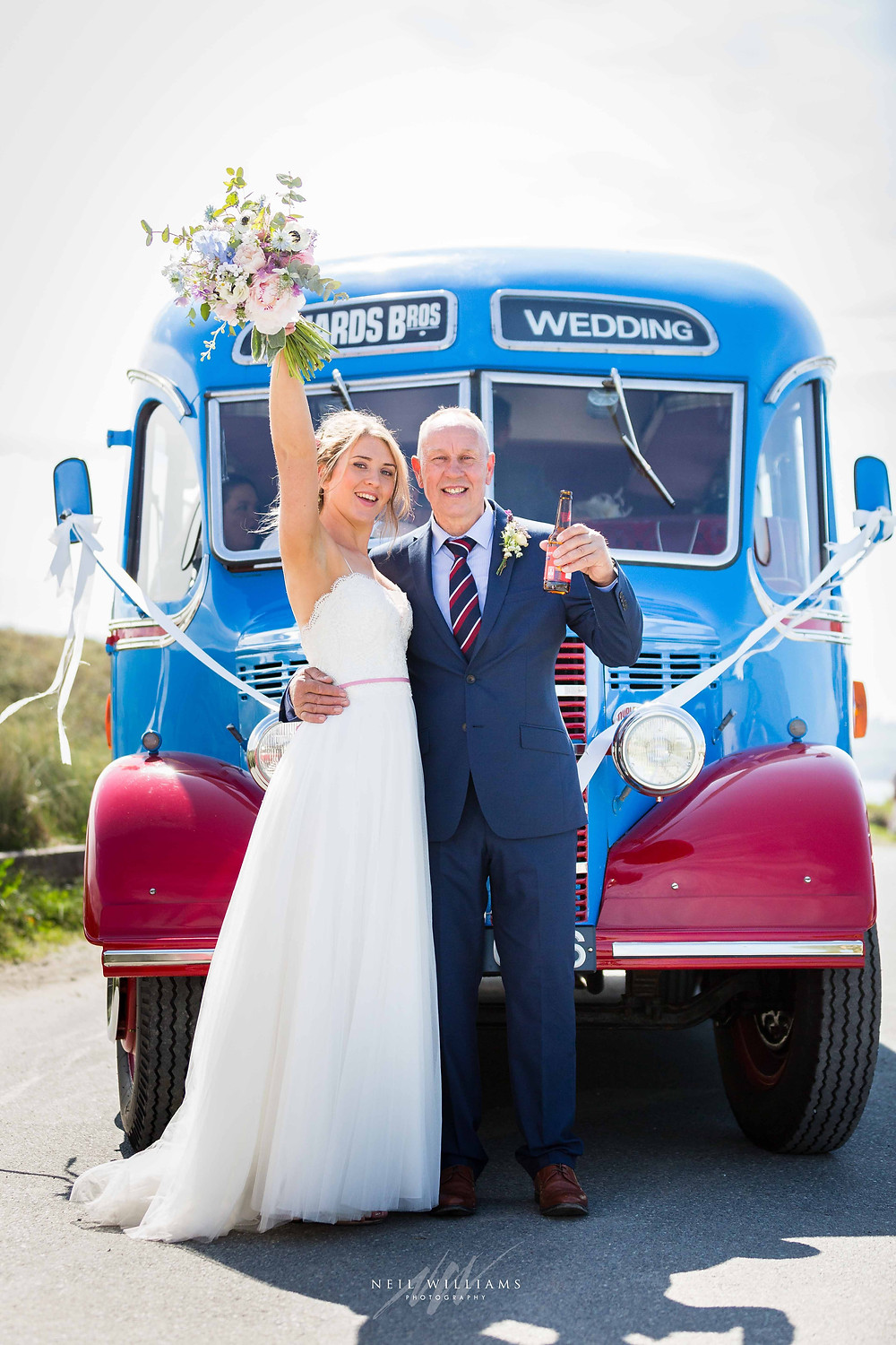 pembrokeshire, wedding, photography, neil, williams, south wales photographer, cardiff, swansea, carmarthen, bristol, cotswolds, llys meddyg, rustic, alternative, boho, vintage bus, wedding transport, richards bros, van kampers