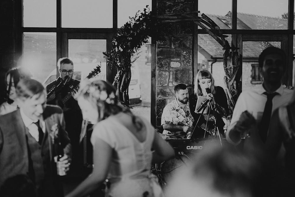 chartz band, wedding band, rosedew farm, boho wedding, neil williams photography