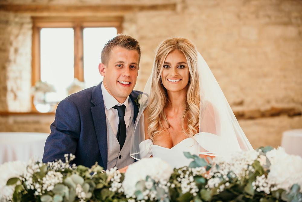couple portrait, kingscote, barn, cotswolds, wedding