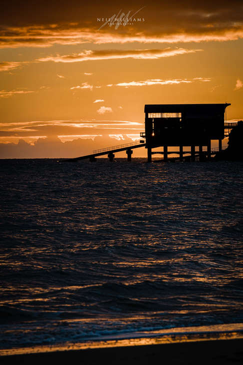 Tenby Lifeboat Sunrise Winter Glow