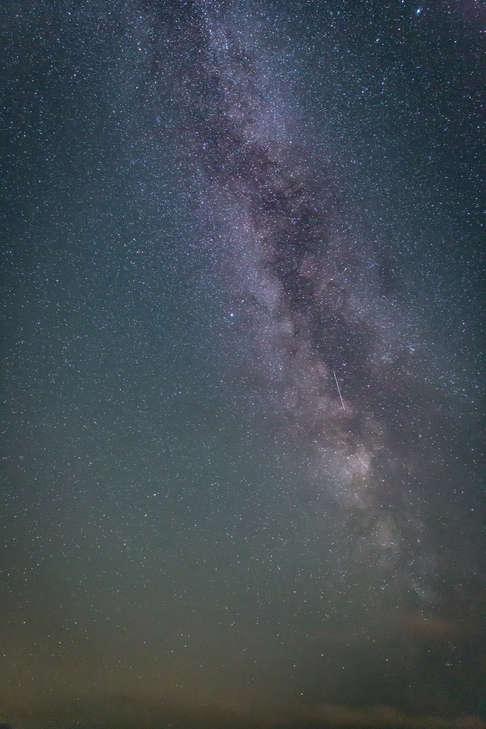Milky Way above Stack Rocks Pembrokeshire