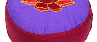 Meditatiekussen rood violet