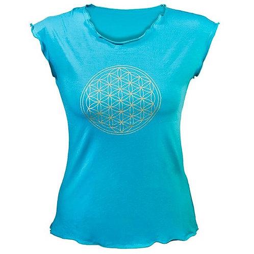 Yoga t-shirt turqouise