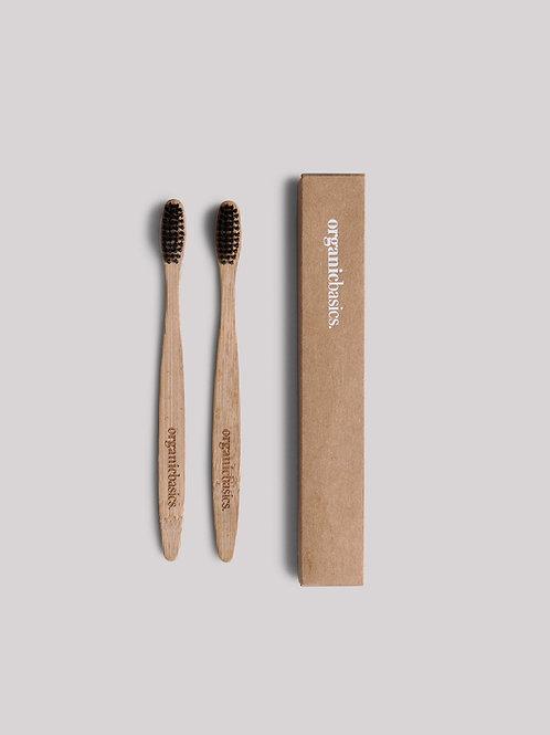 Bamboo tandenborstel set van 2