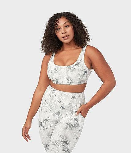 Yoga bra tropical white