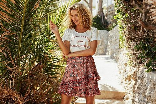 T-shirt wit Ocean Breeze