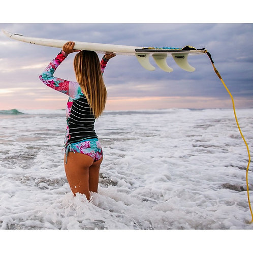 Bikini met lange mouwen - rashguard top summer sea