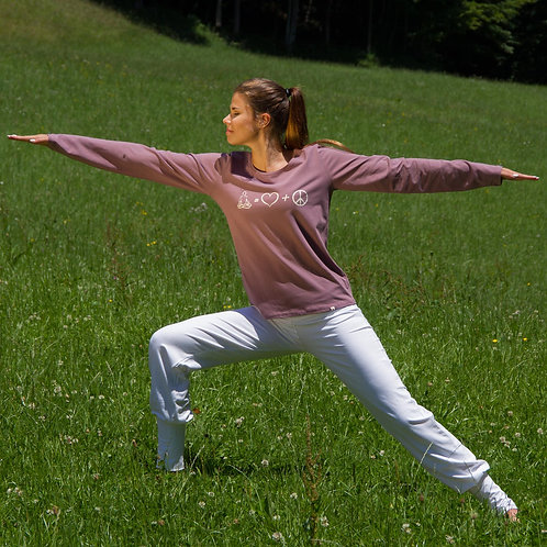 Yogatop lange mouwen