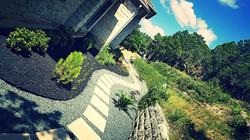Gravel & stone walkway