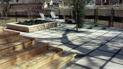 Zen Garden Raised planters with Leuder Rock Top