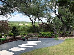 Custom stone path with Black Star gravel