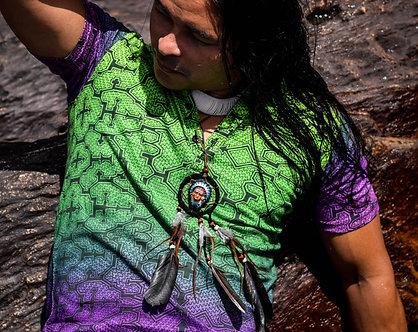 Camiseta Shipibo Cores da Floresta Amazônica