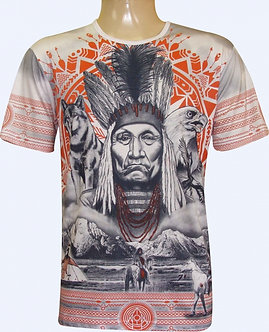 Camiseta Tribal Índio Americano