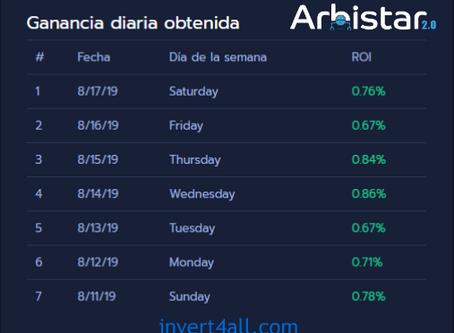 Arbistar 2.0 | Arbitraje de Criptomonedas con resultados únicos e inimitables con un ROI de 5.29%