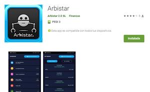 Arbistar 2.0 lanza su APP en PlayStore
