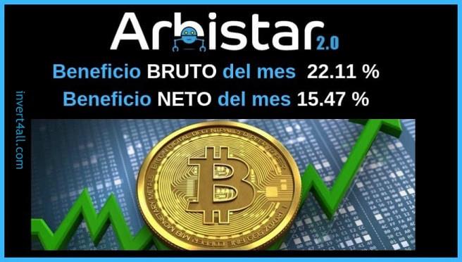 Arbistar 2.0 | ROI Julio 2019 Arbitraje Criptomonedas