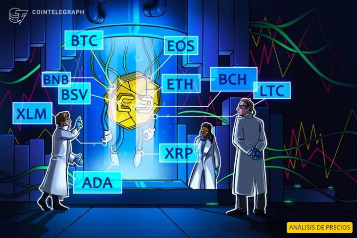 BTC, ETH, XRP, LTC, BCH, EOS, BNB, BSV, XLM, ADA