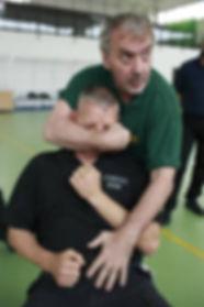 Choke simulation at law enforcement course
