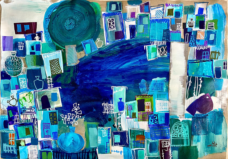 nissa, nissa raad, artist, fahrelnissa, art raad, art jordan, art, art online, painting, city