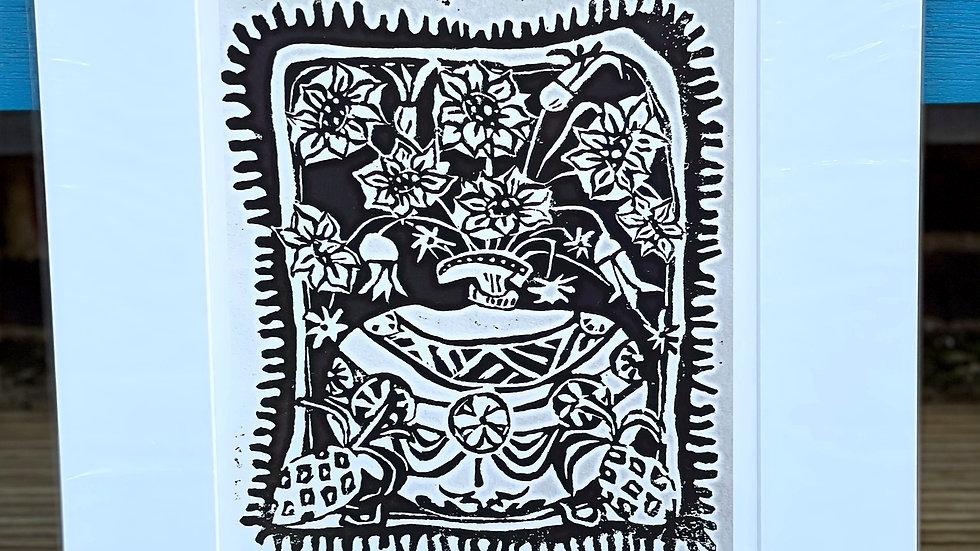 Print of vase of flowers