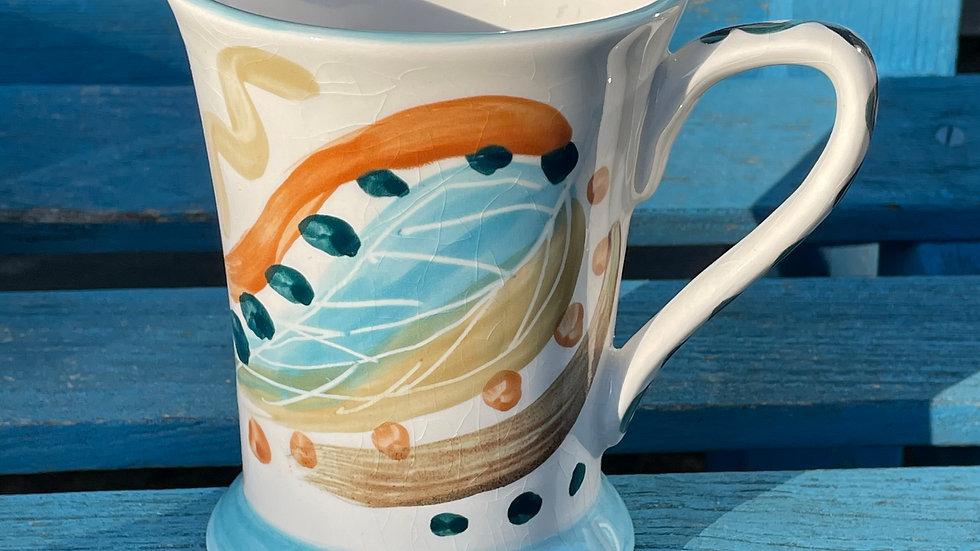 Autumn leaf design mug