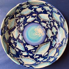 Fish design pasta bowl