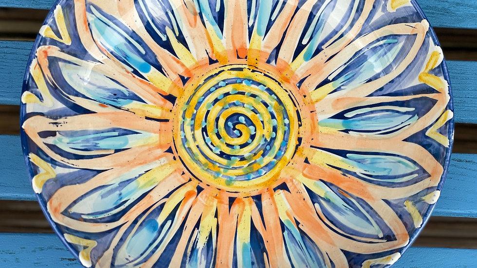 Sunflower design bowl