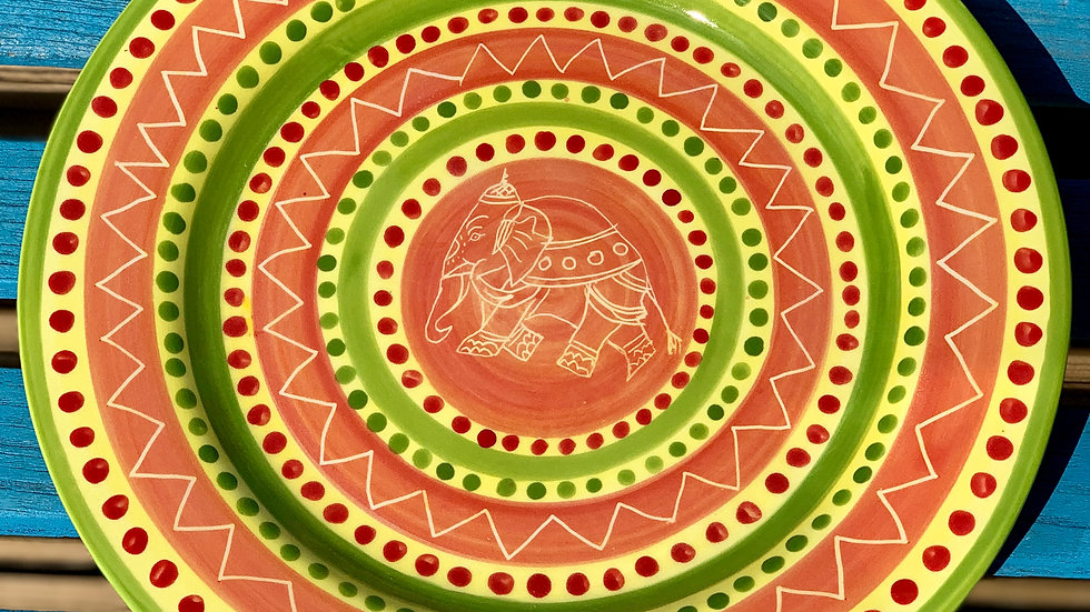 Indian elephant plate