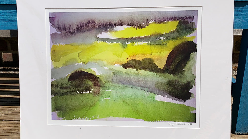 Mounted  landscape print
